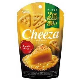 (本州送料無料) 江崎グリコ チーズより2倍旨みが濃い 生チーズのチーザ チェダーチーズ (10×2)20入 (Y80)