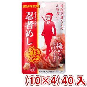 (本州送料無料) 味覚糖 旨味シゲキックス 忍者めし 梅かつお味 (10×4)40入 (Y80)