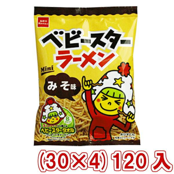 (本州一部送料無料) おやつカンパニー ベビースターラーメンミニ みそ味 (30×4)120入 (Y10)