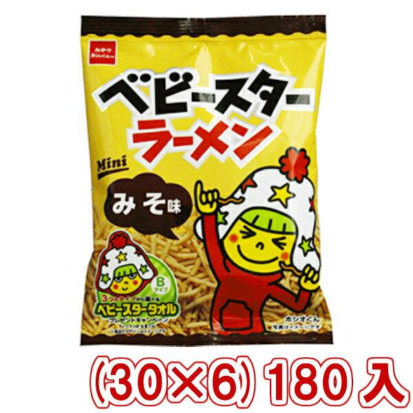 (本州一部送料無料) おやつカンパニー ベビースターラーメンミニ みそ味 (30×6)180入 (Y12)