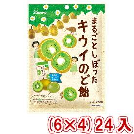 (本州一部送料無料) カンロ まるごとしぼったキウイのど飴 (6×4)24入 (Y80)