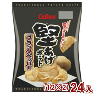 (本州送料無料)カルビー 堅あげポテト ブラックペッパー (12×2)24入 (Y12)