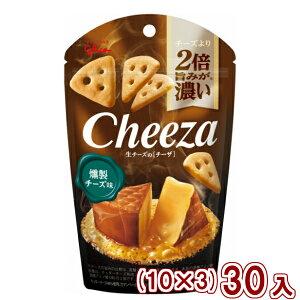 (本州一部送料無料) 江崎グリコ チーズより2倍旨みが濃い 生チーズのチーザ 燻製チーズ味 (10×3)30入 (Y10)