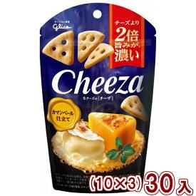 (本州送料無料) 江崎グリコ チーズより2倍旨みが濃い 生チーズのチーザ カマンベール仕立て (10×3)30入 (Y10)