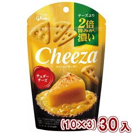 (本州送料無料) 江崎グリコ チーズより2倍旨みが濃い 生チーズのチーザ チェダーチーズ(10×3)30入 (Y10)
