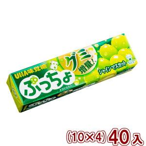 (本州送料無料) 味覚糖 ぷっちょスティック シャインマスカット (10×4)40入 (Y60)