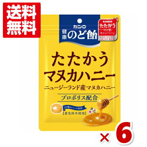 (メール便全国送料無料) カンロ 健康のど飴 たたかうマヌカハニー 6入 (ポイント消化) (np)