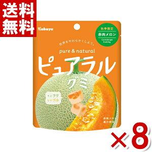 (メール便全国送料無料)カバヤ ピュアラルグミ 赤肉メロン 8入 (ポイント消化) (np)