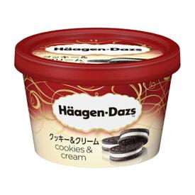 (本州一部冷凍送料無料) ハーゲンダッツ ミニカップクッキー&クリーム 6入(冷凍・アイス)