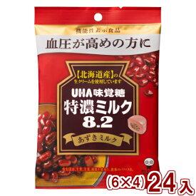(本州一部送料無料)味覚糖 特濃ミルク8.2 あずきミルク(6×4)24入  機能性表示食品 (Y80)