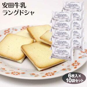 新潟 お土産 安田牛乳ラングドシャ6枚×10袋 新潟みやげ おみやげ 洋菓子 スイーツ ラング チョコ サンド クッキー