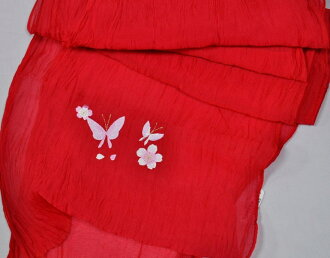 chg19 / ruffled belt tip on embroidered butterflies and flowers / yukata / Crimson series of Tablet & & odd shaped send OK * *-in the summer go to * play-nonstandard-size shipping OK * *