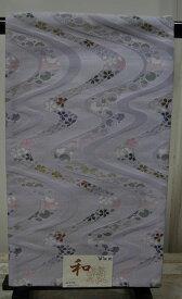 POB345*日本製京袋帯♪日本製/淡い藤色系に流水&桜&三日月? )♪【あす楽対応_東海】