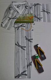 Ye32**大人のワンランク上の単色*上品ななJK浴衣4点セット*白地に楚々とトンボ 上品な大島絣風な綿紅梅の変わり織でさらりと*【あす楽対応_関西】【smtb-k】【kb】【RC】