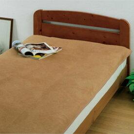 柔らかな肌触り 上質キャメル敷毛布【セミダブル】[代引き手数料無料][送料無料]