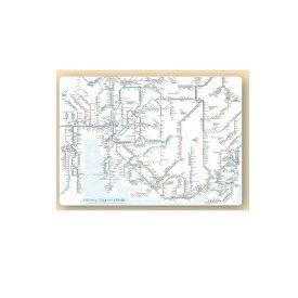 鉄道路線図 下敷き 中部 英語版