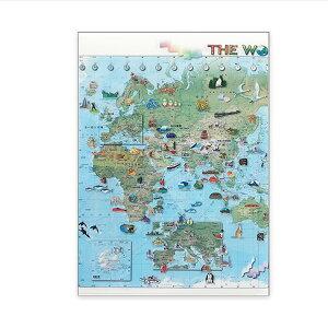 【楽天スーパーセール×ポイント5倍キャンペーン! 3/4 20:00 〜 3/11 01:59】 クリアファイル イラスト世界地図 CFIW