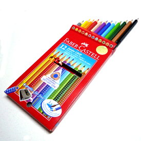 Faber-Castell ファーバーカステル Red-range ジャンボグリップ 色鉛筆 12色セット ボックスセット