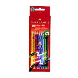 Faber-Castell ファーバーカステル Red-range カラーグリップ イレーサブル色鉛筆 10色入 ボックスセット