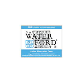 WATERFORD ウォーターフォード水彩紙 ホワイト・ブロック 細目 EHBH-F6 410×318mm 300g/m2 コットン100% 12枚綴じ