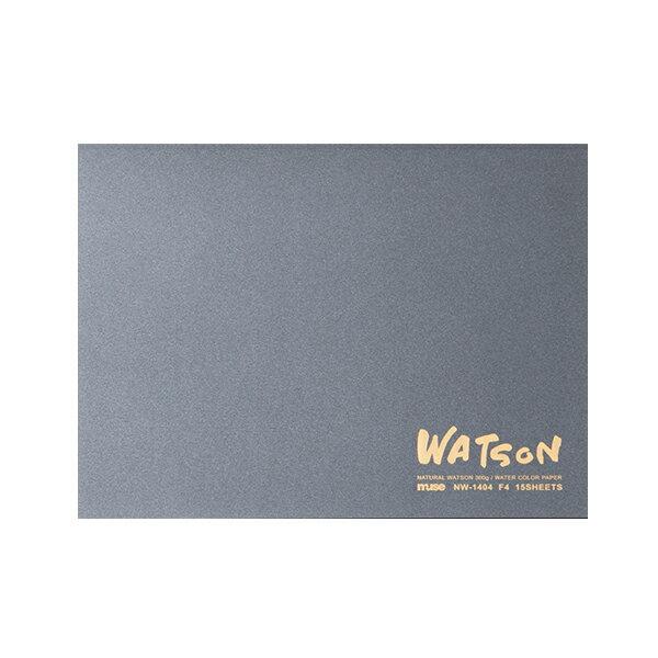 ミューズ 水彩紙 ワトソンブロック 300g (超特厚口) F4サイズ 15枚綴り NW-1404