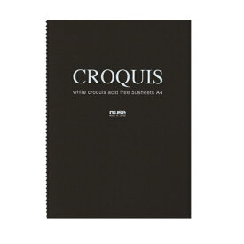 CROQUIS クロッキーブック ホワイト F8 黒表紙