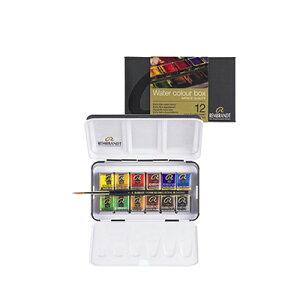 レンブラント 水彩絵具 ハーフパン 12色セット T0583-8612