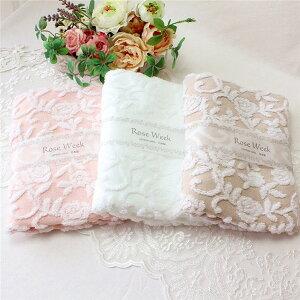 フェイスタオル 無撚糸 花柄 おしゃれ かわいい ローズ ボタニカル 薔薇雑貨 かわいい 母の日ギフト