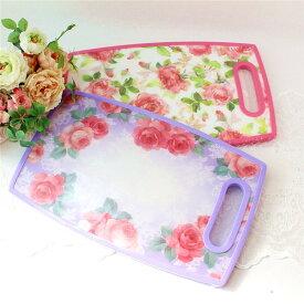カッティングボード まな板ローズ柄 姫系 花柄 ボタニカル 薔薇雑貨 かわいい 母の日ギフト