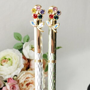 ボールペン おしゃれ かわいい キラキラ ボールペン 花柄 姫系 花柄 ボタニカル バラ 雑貨 花柄 かわいい 母の日ギフト