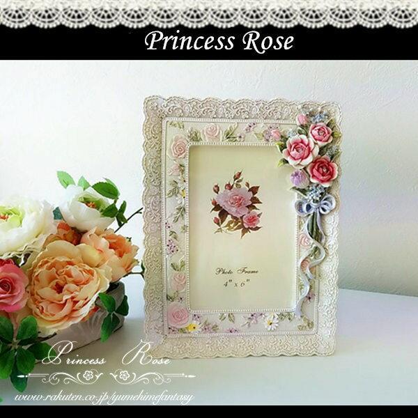 写真立て フォトフレーム アンティック おしゃれ かわいい ローズ 薔薇雑貨姫系 花柄 ボタニカル バラ 雑貨 花柄 かわいい 母の日ギフト 02P28Sep16