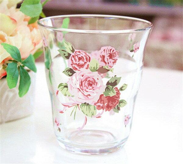 薔薇雑貨 ピンクローズ ローズ ガラス タンブラー 日本製姫系 ボタニカル 花柄 かわいい 母の日ギフト