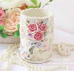 ペンスタンド ペン立て マルチ 花柄 おしゃれ かわいい ローズ 薔薇雑貨 簡単リフォーム姫系 ボタニカル 母の日ギフト