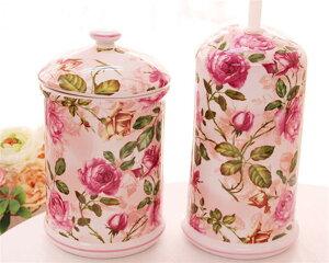 トイレブラシセット おしゃれ かわいい ローズ 薔薇雑貨姫系 花柄 ボタニカル 母の日ギフト