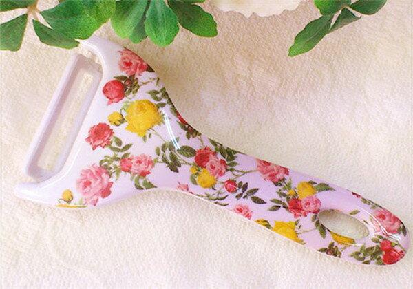 ピーラー 薔薇雑貨 かわいい 便利 切れ味良い セラミック ジュリアローズ 姫系 花柄 薔薇雑貨 花柄 母の日ギフト