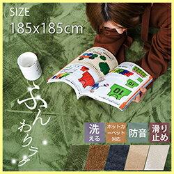 ラグ 洗える 185X185 2畳 ラグマット 北欧 シャギーラグ カーペット 無地 ウォッシャブル 絨毯 じゅうたん リビング 床暖房対応 寝室 スマホ タブレット マイクロファイバー top-4078 12345
