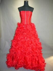 【全国送料無料】ビスチェ ロング プリンセスライン ドレープ オーガンジー カクテル ドレス ビーズ 飾り