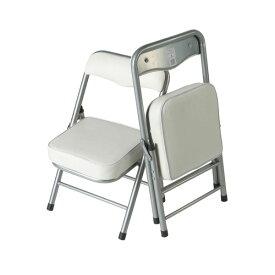 ちょいがるチェア (イス 椅子) /ミニ折りたたみローチェア 【ホワイト】 コンパクト仕様 〔室内/屋外〕 白