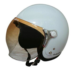 ダムトラックス(DAMMTRAX) ジェットヘルメット BUBBLE-BEE P.ホワイト 白