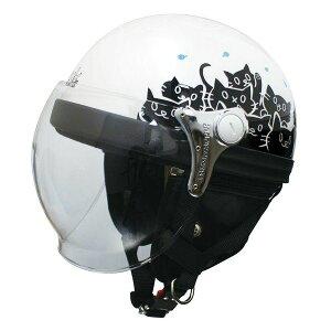 ダムトラックス(DAMMTRAX) ハーフヘルメット CARINA HARF(カリーナハーフ) ホワイト/CAT レディース(57cm〜58cm) 白