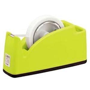 (まとめ)プラス テープカッター TC-201 ライトグリーン【×10セット】 緑