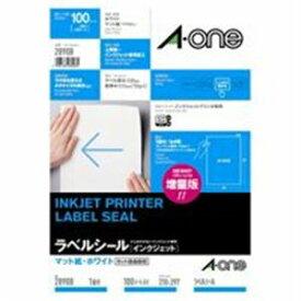 エーワン インクジェット用ラベル/宛名シール 【A4/全面 100枚】 ノーカット 28908