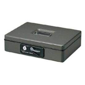 プラス 手提げ金庫/セーフティーボックス 【小型】 コンパクト 軽量 シリンダー錠付き CB-040G ダークグレー