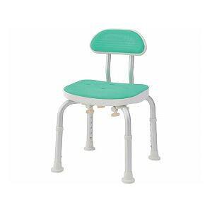 美和商事 コンパクトバスチェア (イス 椅子) 背付き /BC-01H-GR グリーン 緑
