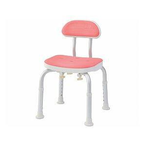 美和商事 コンパクトバスチェア (イス 椅子) 背付き /BC-01H-PI ピンク