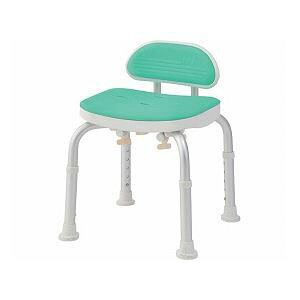 美和商事 コンパクトバスチェア (イス 椅子) ミニ背付き /BC-01L-GR グリーン 緑