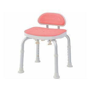 美和商事 コンパクトバスチェア (イス 椅子) ミニ背付き /BC-01L-PI ピンク