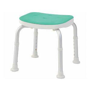 美和商事 コンパクトバスチェア (イス 椅子) 背なし /BC-01N-GR グリーン 緑