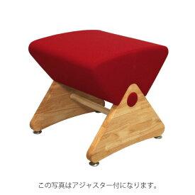 デザイナーズスツール イス バーチェア 椅子 カウンターチェア キャスター付 移動可能 車輪付き き クリア(布:レッド/ナイロン)【Mona.Dee】モナディー WAS01SC 赤