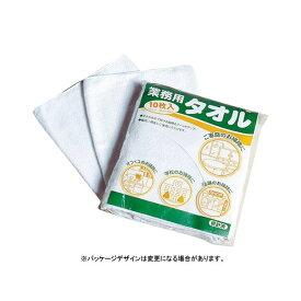 (業務用セット) テラモト 業務用タオル CE-480-010-8 ホワイト 10枚入 【×2セット】 白